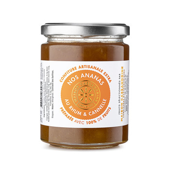 Confiture Artisanale Extra d'Ananas Rhum Cannelle