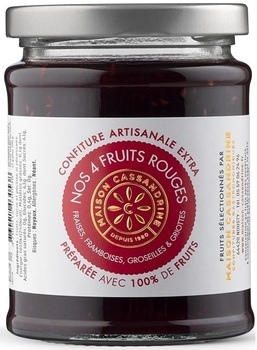Confiture Artisanale Extra de Quatre Fruits Rouges
